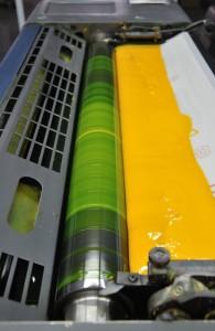 offset inks on press
