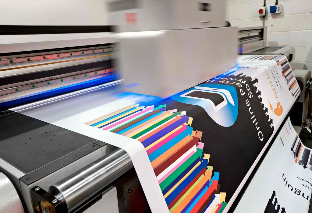 printing of large formats