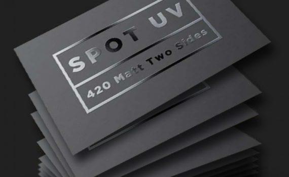 uv technology on business card